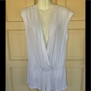 Victoria's Secret deep  v white romper